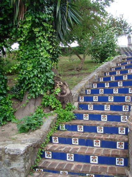Jard n y escaleras jimena un paisaje - Escaleras jardin ...